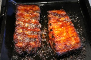 Barbecue oldalas: kész