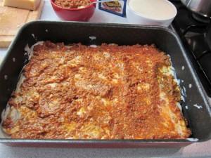 Bolognai lasagne elkészítése 6 - bolognai szósz a besamelre