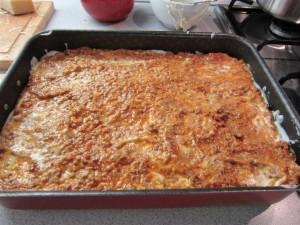 Bolognai lasagne 8 - utolsó réteg