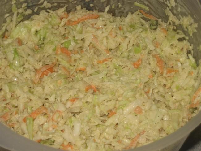 Amerikai káposztasaláta, coleslaw