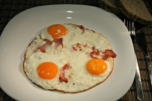 Ham and eggs