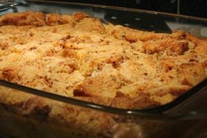 Kenyérpuding sütés után