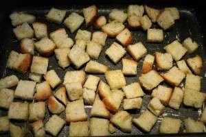 Kruton készítése: sütés előtt