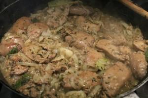 Olaszos csirkemáj recept: majdnem kész