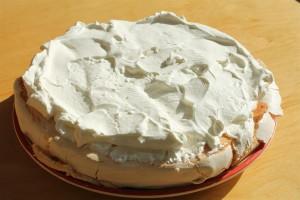 Pavlova torta alap tejszínhabbal