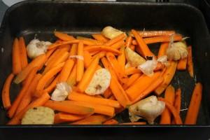 Provencei karaj recept: zöldségek a tepsiben