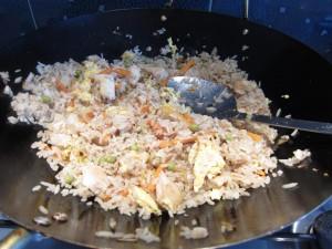 Kész a sült rizs