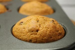 Sütőtökös muffin mazsolával