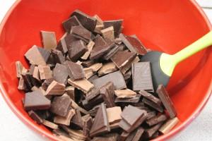 Csokoládé összetörve