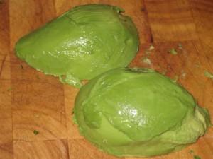 Guacamole recept: avokádó húsa