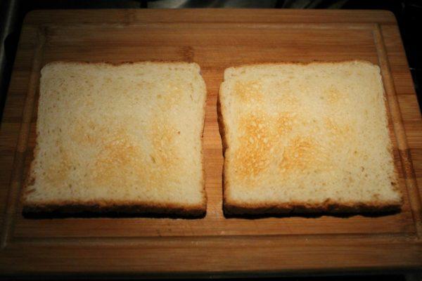 BLT szendvics készítése 1 - pirított toast kenyér