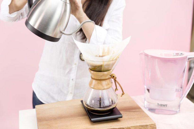 BWT szűrt víz otthoni kávéhoz
