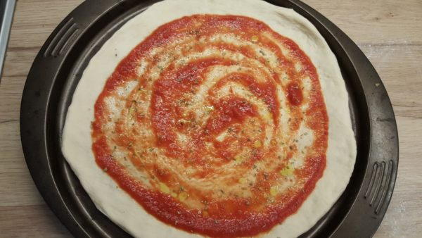 Gombás pizza recept 1