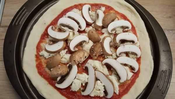 Gombás pizza recept 3