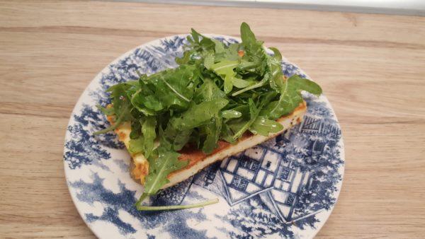 Halloumi sajtos szendvics készítése 2
