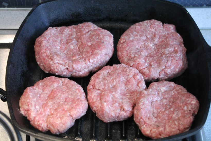 Hamburgerhús sütése
