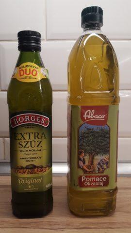 Kétféle olíivaolaj