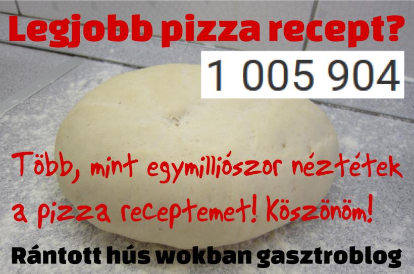 Legjobb pizza recept?