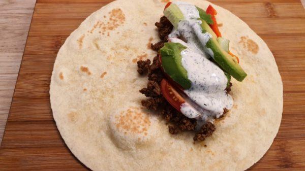 Mexikói darált húsos tortilla készítése