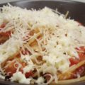Olasz paradicsomos spagetti sajttal
