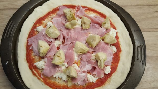 Sonkás articsókás pizza recept 6