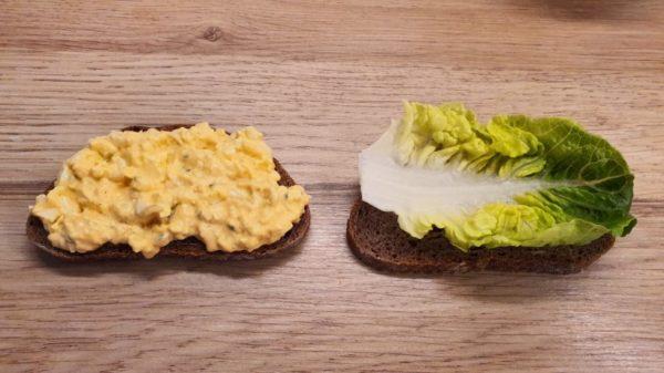Tojáskrémes szendvics készítése