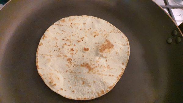 Tortilla pirítása