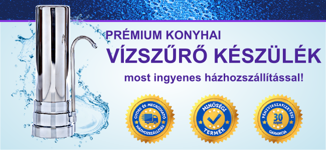 Vízmegoldás prémium vízszűrő banner
